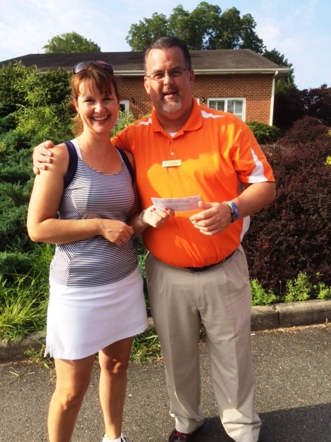 Shown: Jeanine Ellis , President, HWGA 9 Hole Golfers, with John Ellis Hanover Country Club's Golf Pro