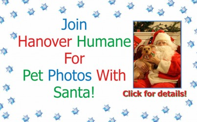 Hanover Humane Offers Pet Photos with Santa 2016