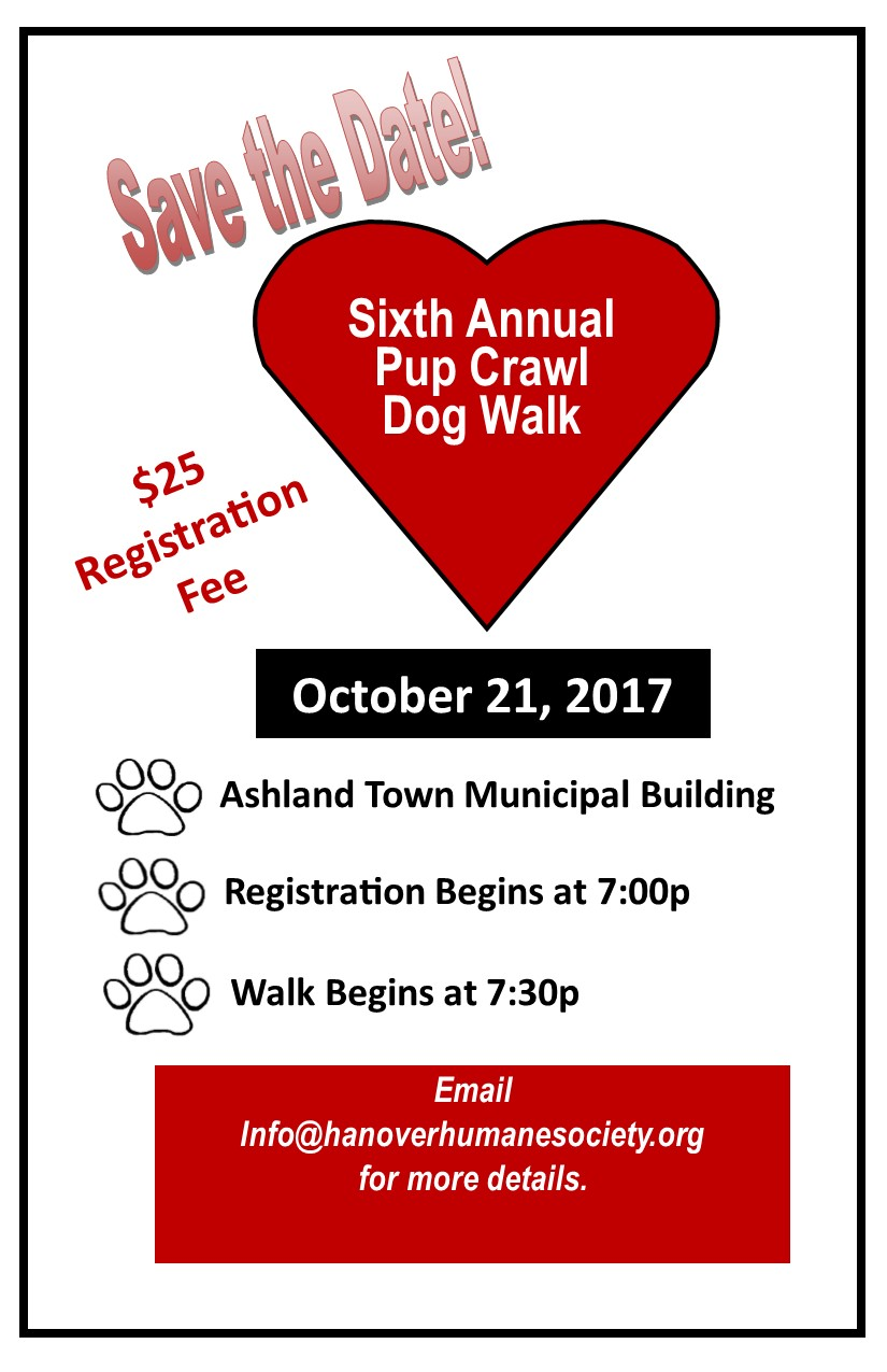 Save the Date Pup Crawl 2017
